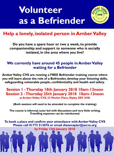 befriender training  u2013 amber valley cvs