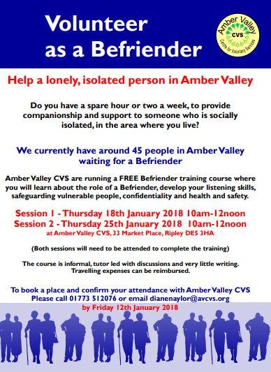 befriender training  u2013 amber valley cvs